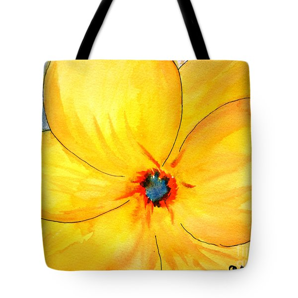Tote Bag featuring the painting Glicee Cyan-a-floral by Clayton Bruster