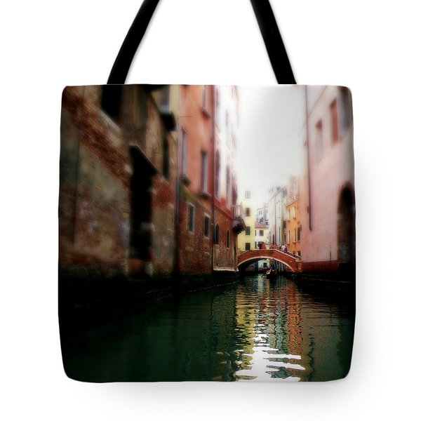 Gliding Along The Canal  Tote Bag by Micki Findlay