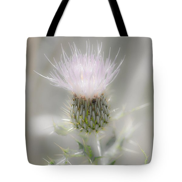 Glimmering Thistle Tote Bag