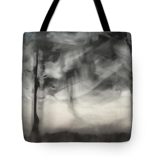 Glimpse Of Coastal Pines Tote Bag by Carol Leigh