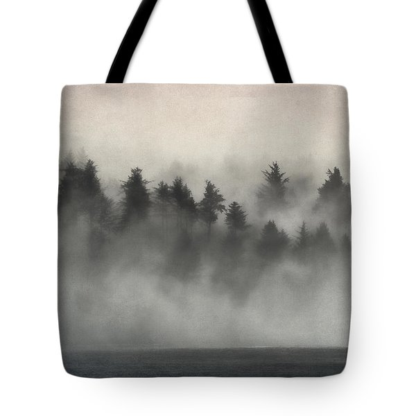 Glimpse Of Mist And Trees Tote Bag