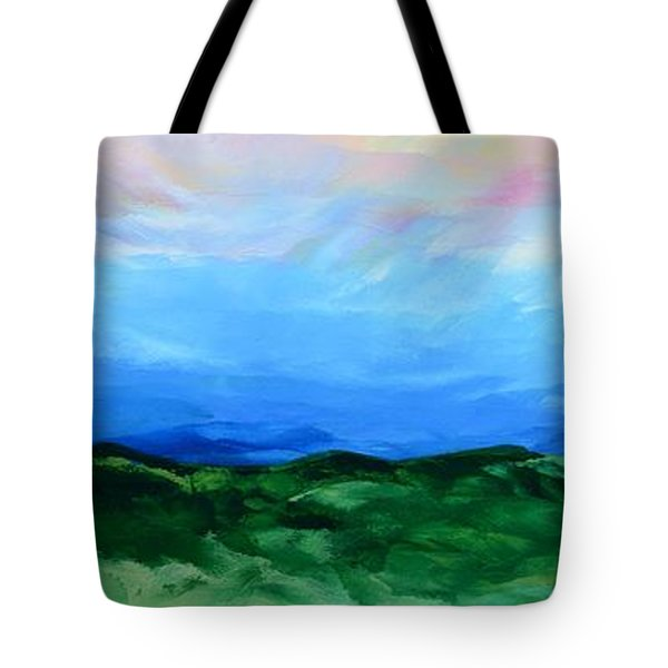 Tote Bag featuring the painting Glimpse Of The Splendor by Linda Bailey