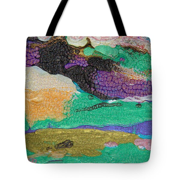 Glimpses Of Spring Abstract Painting Tote Bag