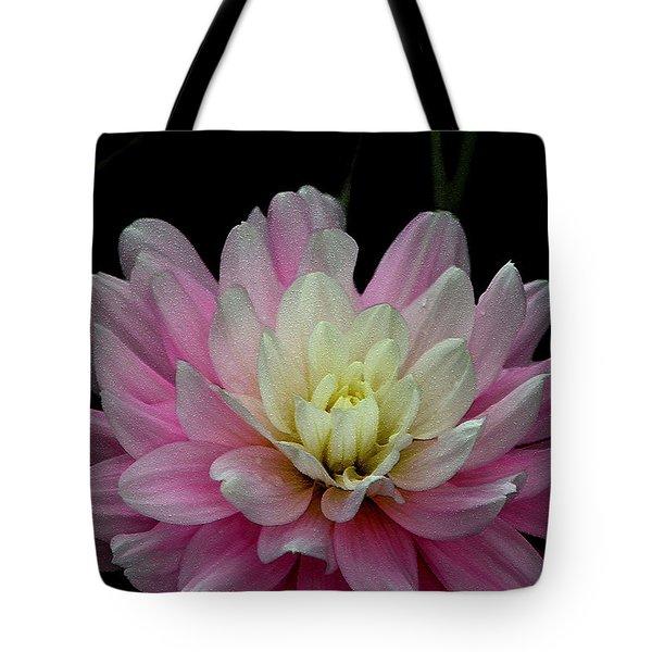 Glistening Dahlia Radiance Tote Bag