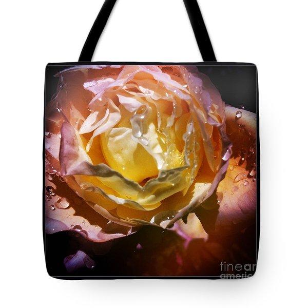 Glistening Rose Tote Bag