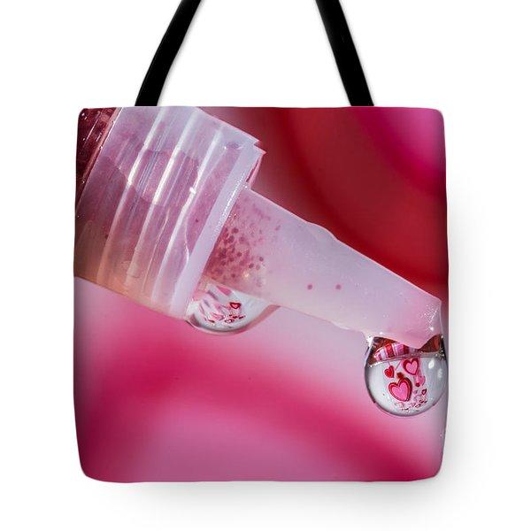 Glitter Love Drop Tote Bag