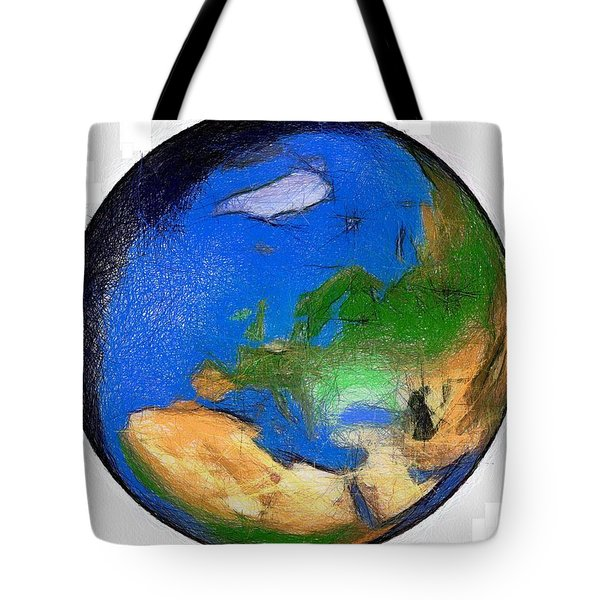 Globe 3d Picture Tote Bag by Georgi Dimitrov