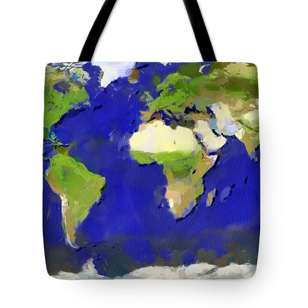 Global Map Painting Tote Bag by Georgi Dimitrov