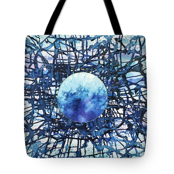 Tote Bag featuring the painting Global Net by Joan Hartenstein