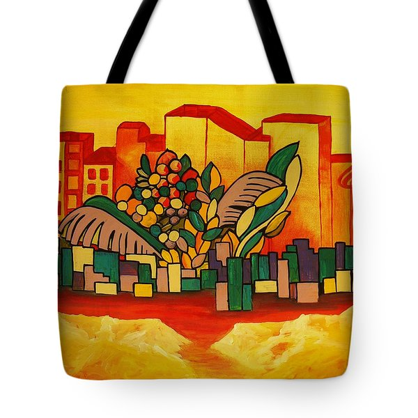 Tote Bag featuring the painting Global Warning by Barbara St Jean