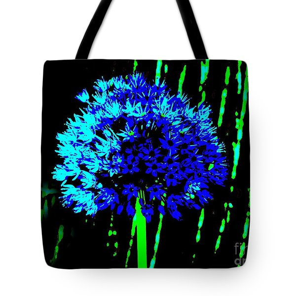Globe Allium  Tote Bag by Sally Simon