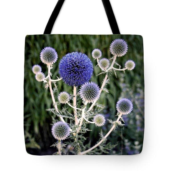Globe Thistle Tote Bag by Rona Black