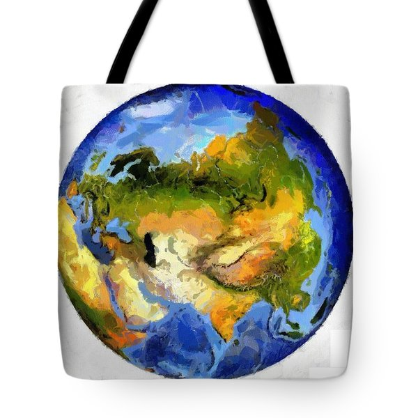 Globe World Map Tote Bag by Georgi Dimitrov