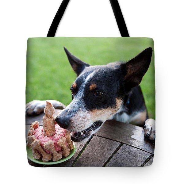 Australian Kelpie Dog First Birthday Tote Bag