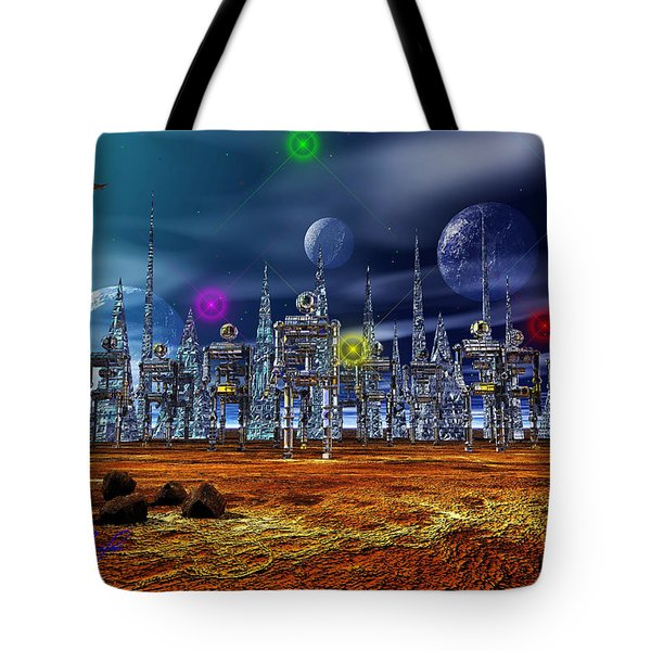 Gloeroxz Tote Bag by Mark Blauhoefer