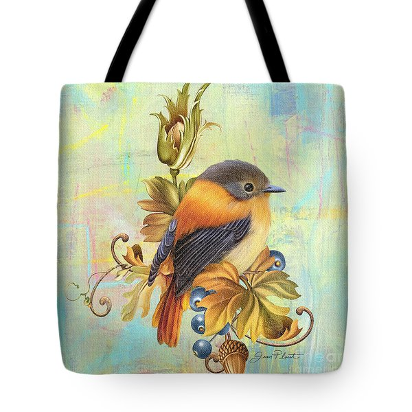 Glorious Birds On Aqua-a2 Tote Bag by Jean Plout