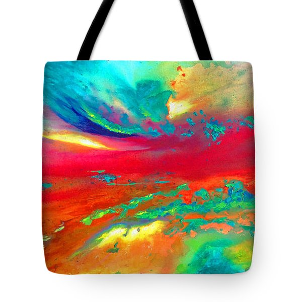 Tote Bag featuring the painting Glorious Day by Karen Kennedy Chatham