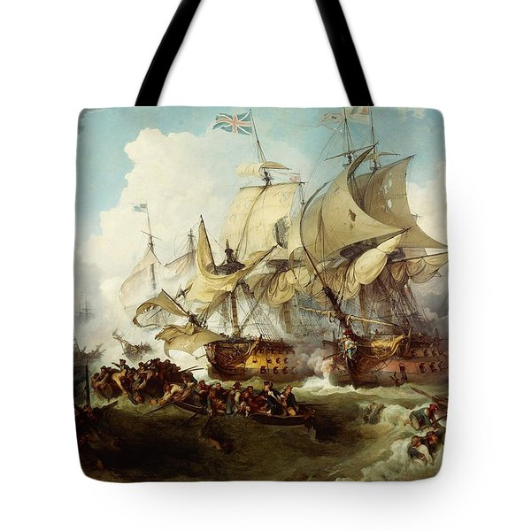 Glorious First Of June Or Third Battle Of Ushant Between English And French Tote Bag