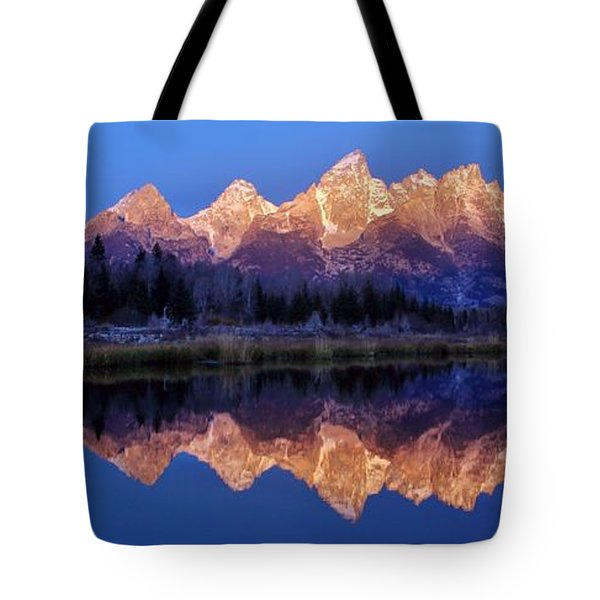 Tote Bag featuring the photograph Glorious Morning Panorama by Benjamin Yeager