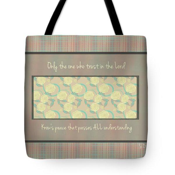 Glorious Peace  Tote Bag