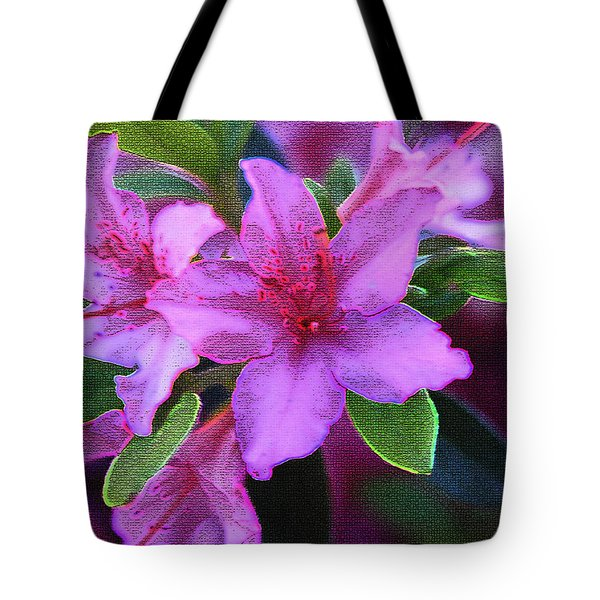 Glorious Pink Azaleas Tote Bag