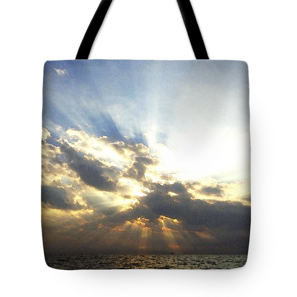 Glorious Rays Of Sunshine Tote Bag by Anne Mott