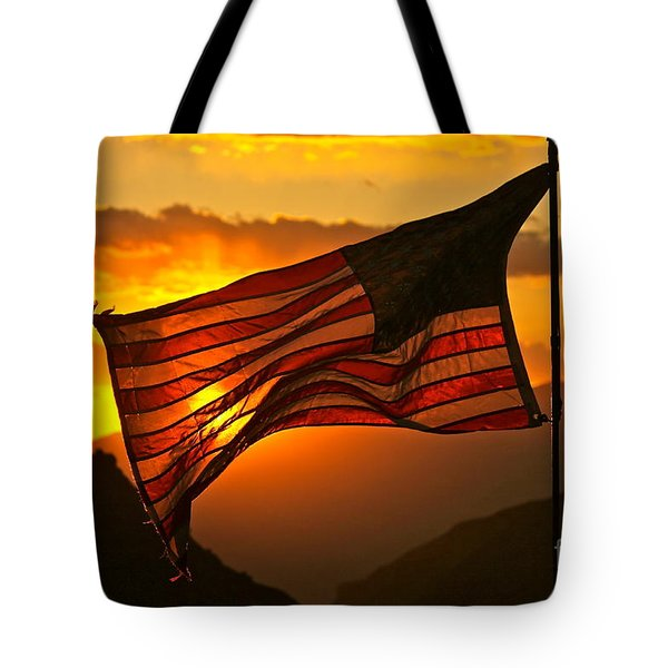 Glory At Sunset Tote Bag