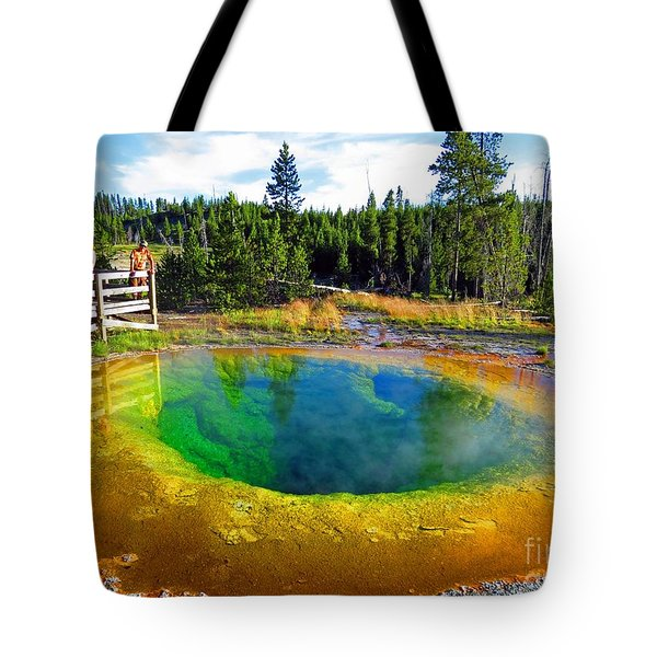 Glory Pool Yellowstone National Park Tote Bag