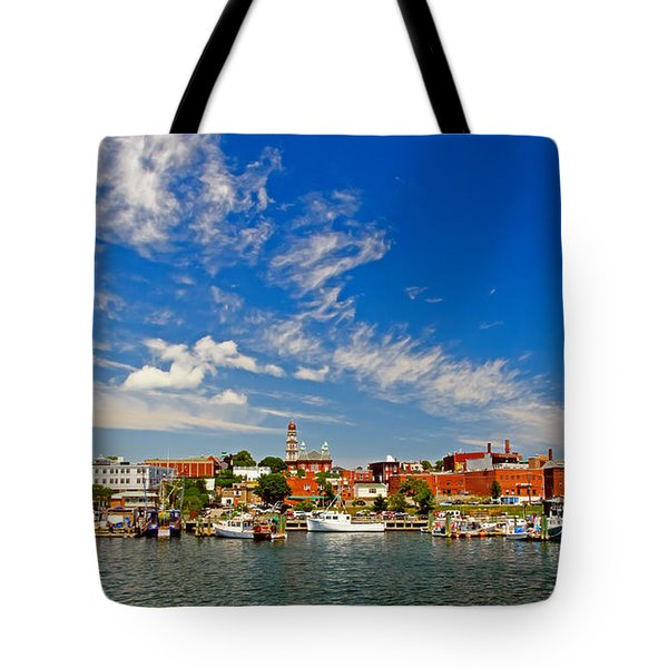 Gloucester Massachusetts Tote Bag by Charles Dobbs