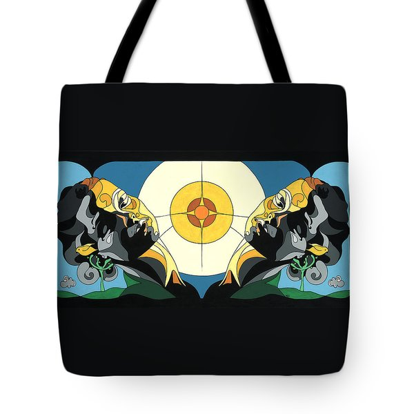 Glow Of Beauty - Painting With Hidden Pictures Tote Bag