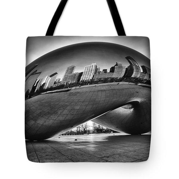 Glowing Bean Tote Bag by Sebastian Musial