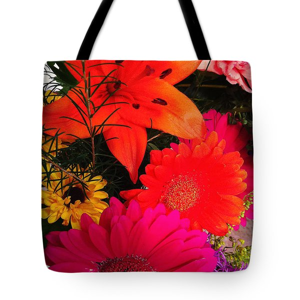 Tote Bag featuring the photograph Glowing Bright by Meghan at FireBonnet Art