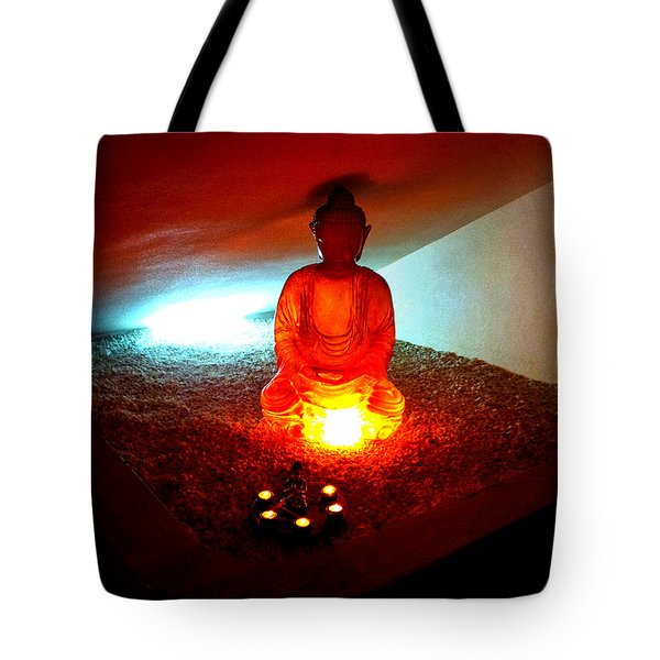 Glowing Buddha Tote Bag