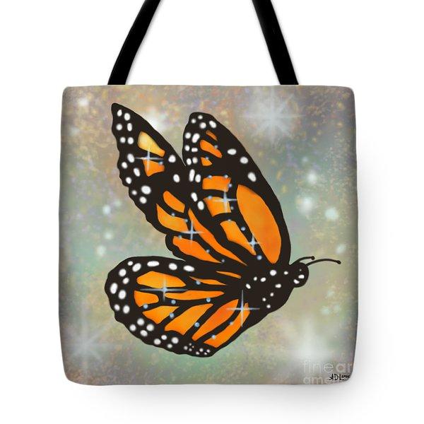 Glowing Butterfly Tote Bag by Audra D Lemke