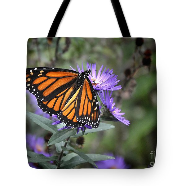 Tote Bag featuring the photograph Glowing Butterfly by Nava Thompson