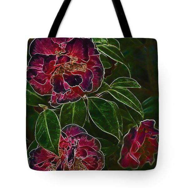 Glowing Camellia Tote Bag