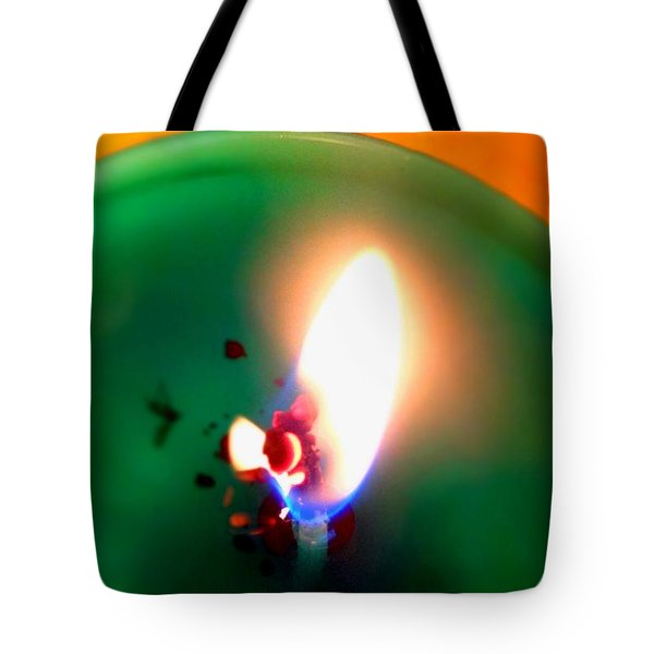 Glowing Candle Wick Tote Bag