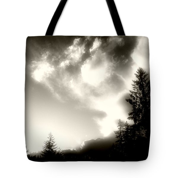 Glowing Clouds Tote Bag by Adria Trail