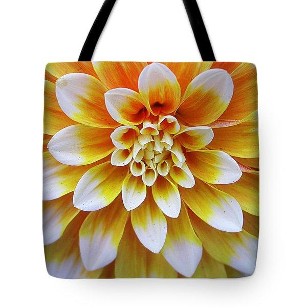 Glowing Dahlia Tote Bag