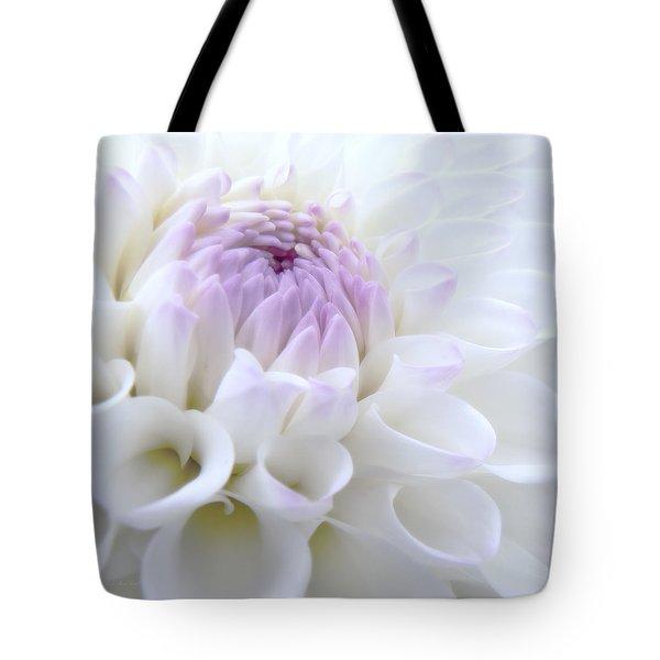 Glowing Dahlia Flower Tote Bag by Jennie Marie Schell