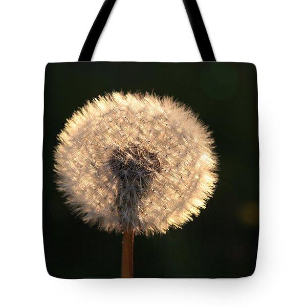 Glowing Dandelion Clock Tote Bag