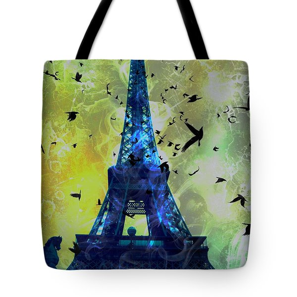 Glowing Eiffel Tower Tote Bag