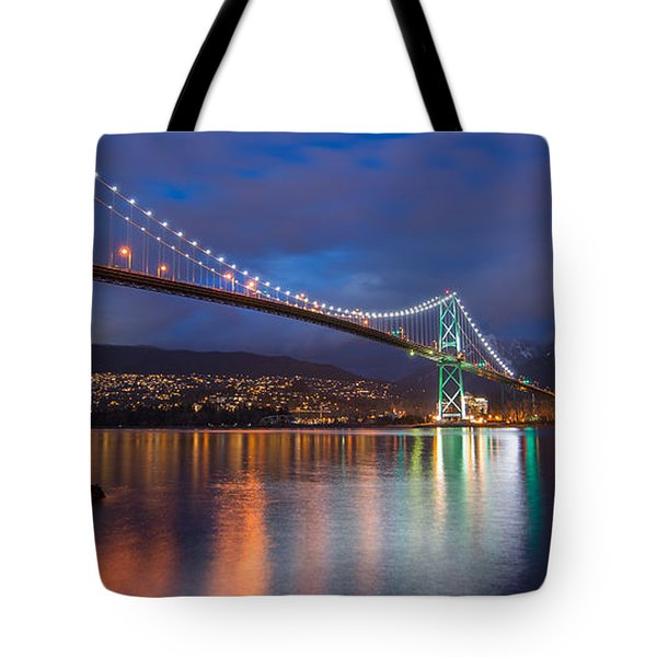 Glowing Grouse Mountain Tote Bag by James Wheeler