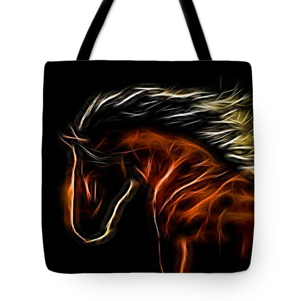 Glowing Horse Tote Bag by Daniel Eskridge