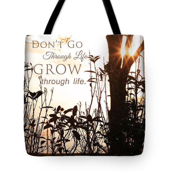 Glowing Landscape With Message Tote Bag