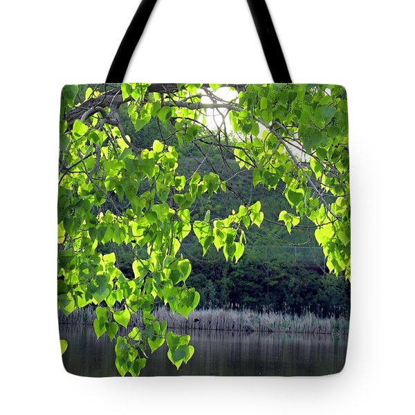 Glowing Leaves Tote Bag