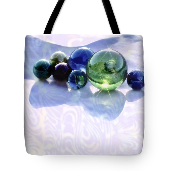 Glowing Marbles Tote Bag