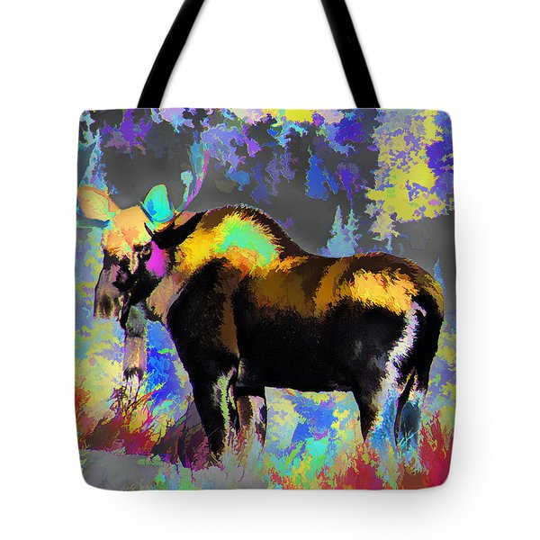 Electric Moose Tote Bag