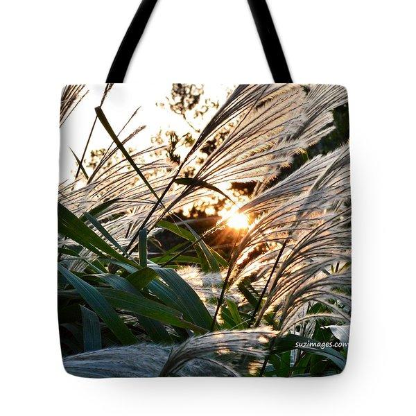 Glowing Pampas Tote Bag