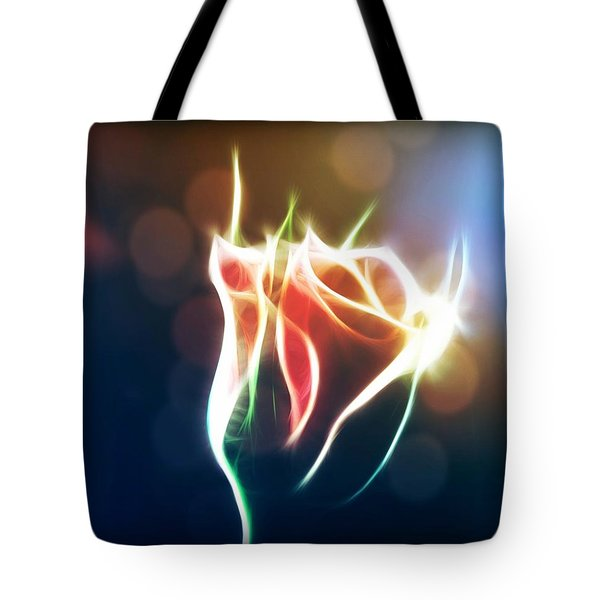 Glowing Rose Tote Bag